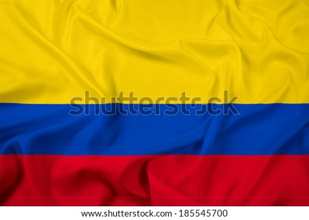 Waving Colombia Flag Stock photo ©
