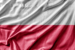 Waving detailed national country flag of Poland
