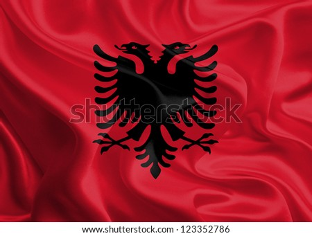 Waving Fabric Flag of Albania
