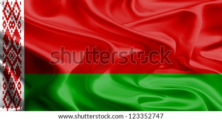 Waving Fabric Flag of Belarus