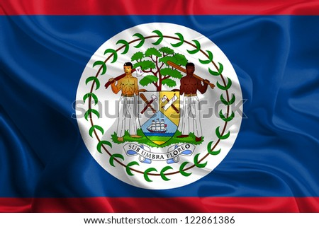 Waving Fabric Flag of Belize