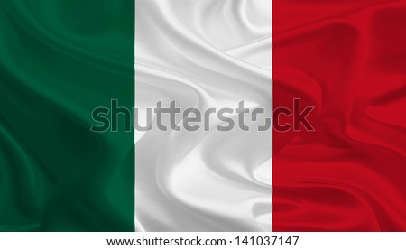 Waving Fabric Flag of Mexico Without Logo