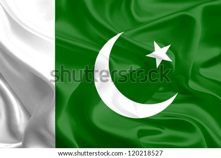 Waving Fabric Flag of Pakistan