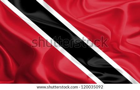 Waving Fabric Flag of Trinidad & Tobago
