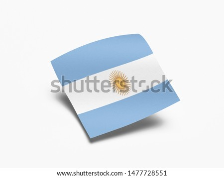 Waving Flag of Argentina, Flag of Argentina in White Background. #1477728551