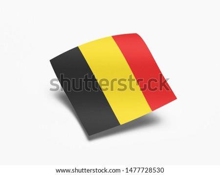 Waving Flag of Belgium, Flag of Belgium in White Background. #1477728530