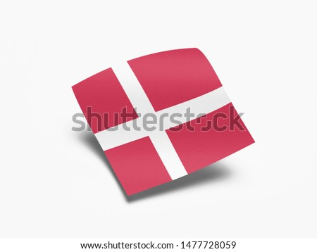 Waving Flag of Denmark, Flag of Denmark in White Background. #1477728059