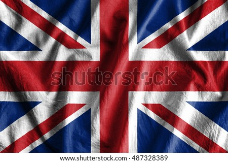 Waving flag of England #487328389