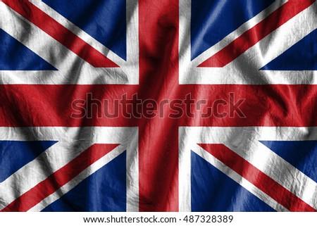 Waving flag of England #487328389