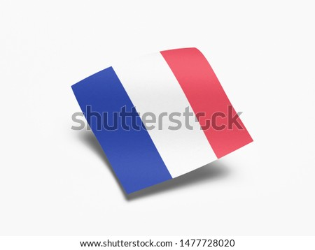 Waving Flag of France, Flag of France in White Background. #1477728020