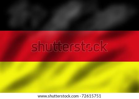 Waving flag of Germany, 3d illustration
