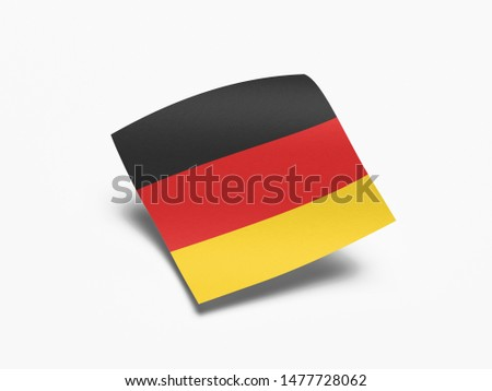 Waving Flag of Germany, Flag of Germany in White Background. #1477728062