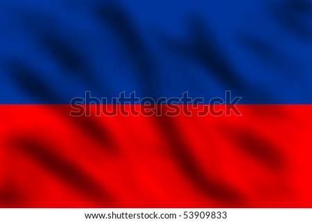 Waving flag of Haiti, 3d illustration