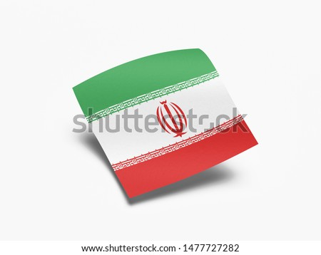 Waving Flag of Iran, Flag of Iran in White Background. #1477727282