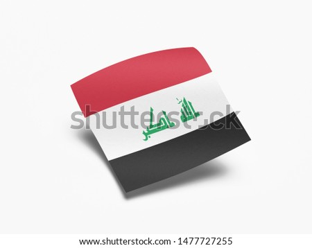 Waving Flag of Iraq, Flag of Iraq in White Background.