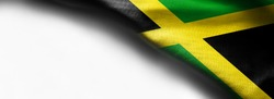 Waving flag of Jamaica, Central America on white background