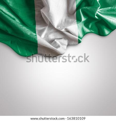 Waving flag of Nigeria, Africa