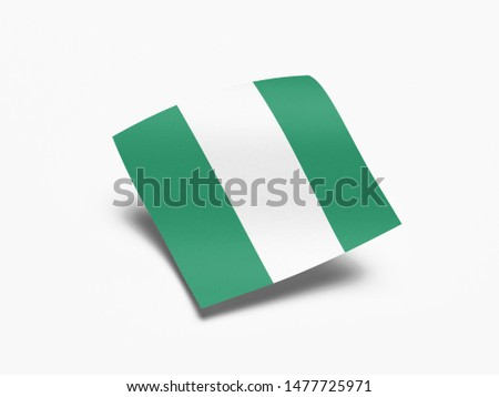 Waving Flag of Nigeria, Flag of Nigeria in White Background. #1477725971