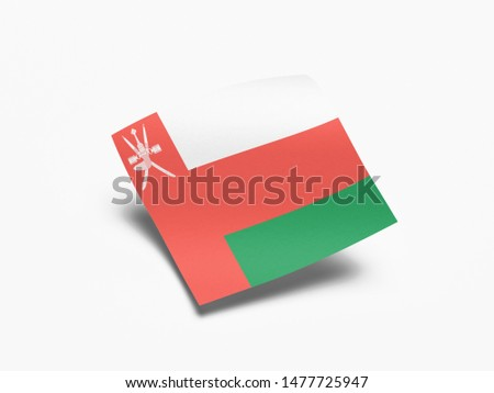 Waving Flag of Oman, Flag of Oman in White Background.