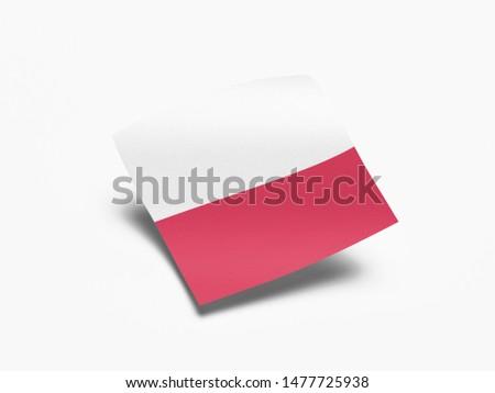 Waving Flag of Poland, Flag of Poland in White Background. #1477725938