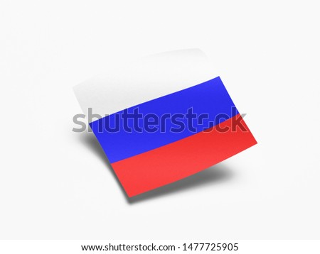 Waving Flag of Russia, Flag of Russia in White Background. #1477725905