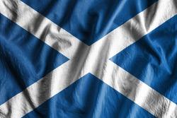 Waving flag of Scotland