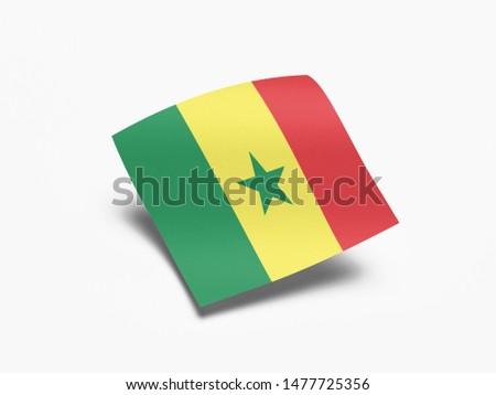 Waving Flag of Senegal, Flag of Senegal in White Background. #1477725356