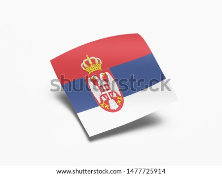 Waving Flag of Serbia, Flag of Serbia in White Background. #1477725914