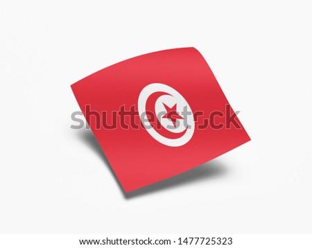 Waving Flag of Tunisia, Flag of Tunisia in White Background. #1477725323