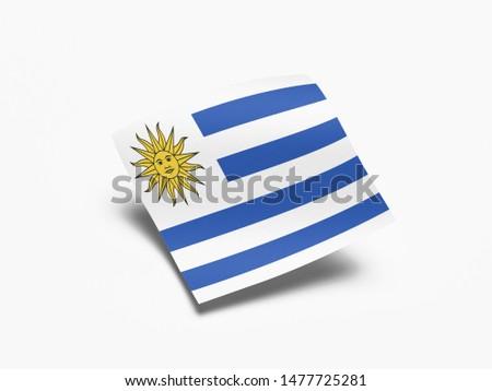 Waving Flag of Uruguay, Flag of Uruguay in White Background. #1477725281