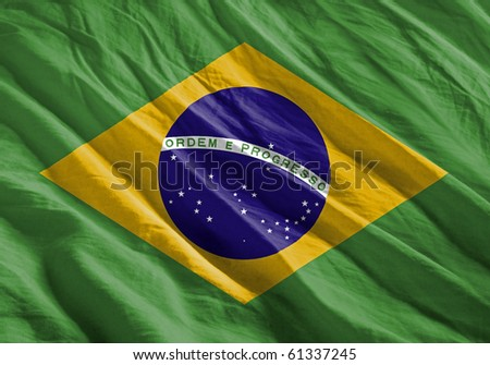 Waving flag series - Brazil
