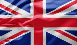 Waving national flag of Great Britain