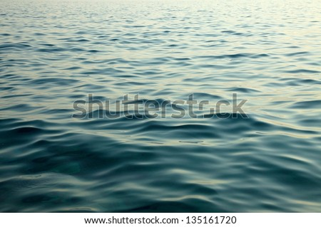 Waving water surface of the sea #135161720