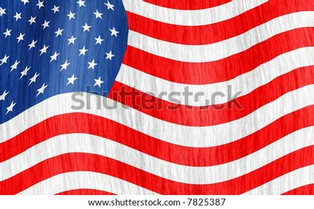 Wavy American official flag