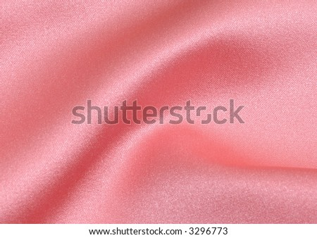 Wavy and beautiful pink satin fabric background