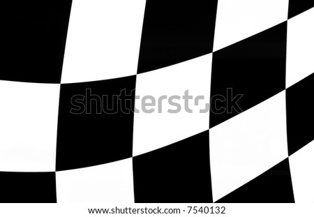 Wavy chess flag suitable for background