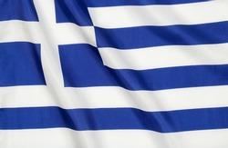wavy flag of greece