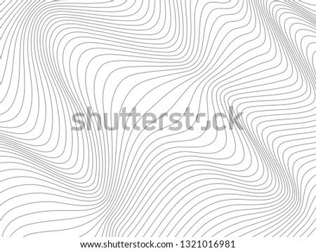 Wavy gray lines.Warped gray lines.Gray stripes.Gray curves.