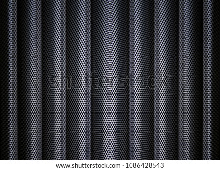 A Perforated Decorative Metal Grate For Textural Background Images