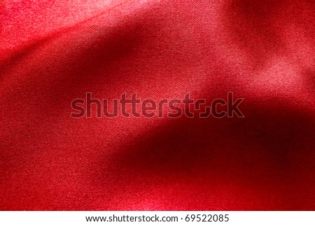 wavy red fabric for background