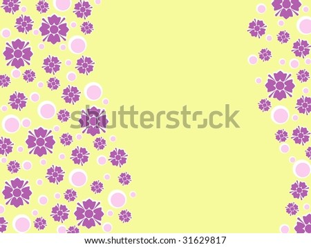 Wavy retro floral background (JPG); a vector version is also available