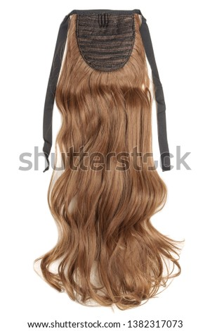 Wavy Ribbon Medium Brown Synthetic Ponytail Hair Extension #1382317073