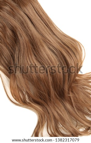 Wavy Ribbon Medium Brown Synthetic Ponytail Hair Extension #1382317079