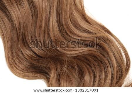 Wavy Ribbon Medium Brown Synthetic Ponytail Hair Extension #1382317091