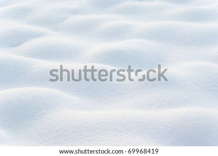 Wavy surface of fresh snow