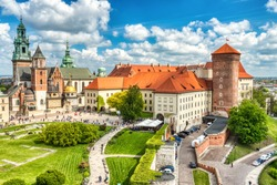 Wawel Castle during the Day, Krakow, Poland