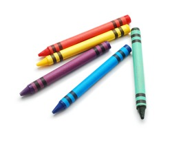 wax crayons