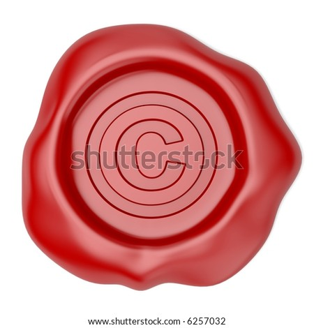 Wax seal with Copyright symbol