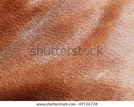 Waxed leather - close up, can be used as a background