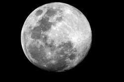 Waxing Gibbous / The Moon is an astronomical body that orbits planet Earth and is Earth's only permanent natural satellite